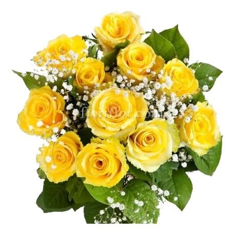Mazzo di rose gialle spedizione