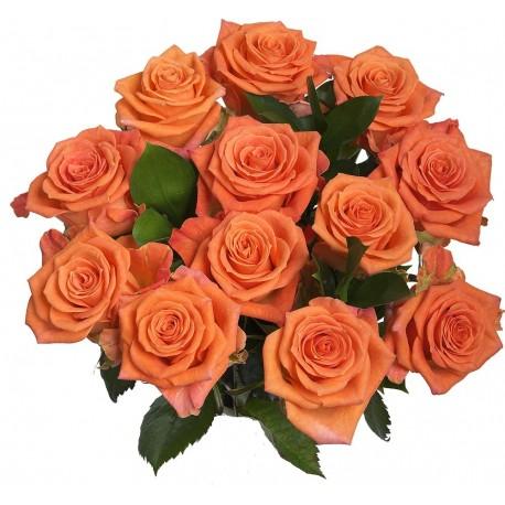 mazzo di rose arancioni