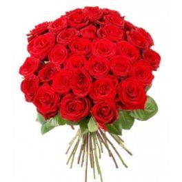 Mazzo di rose rosse da 36 rose