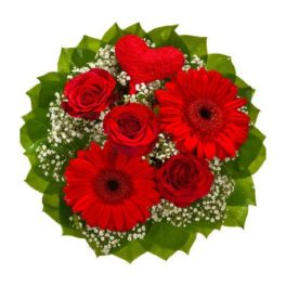 Bouquet rose rosse gerbere