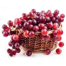 cesto con uva da regalare