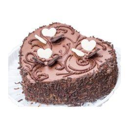 torta a forma di cuore cioccolato