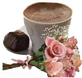 bouquet di 9 rose color rosa e caffee