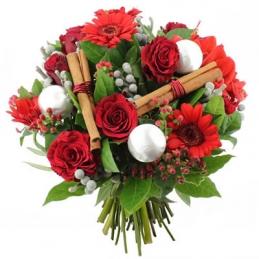 rose rosse, gerbere rosse,cannella