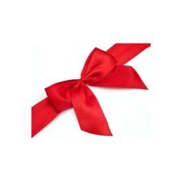 fiocco rosso per confezioni regalo