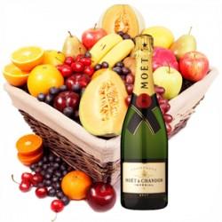 Cesto di frutta e Moet acquisto e invio online consegna a domicilio