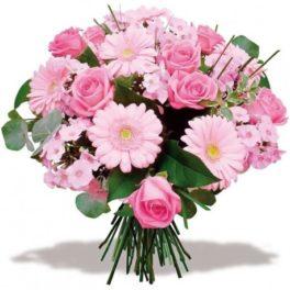 Mazzo di fiori rosa