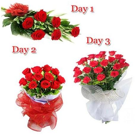 Omaggio floreale 3 giorni consecutivi