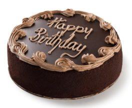 torta a cioccolato buon compleanno