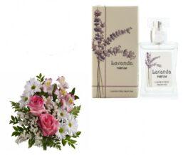 boqueut fiori con profumo alla lavanda