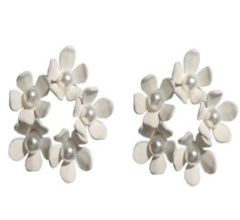 orecchini fiorellini con perline